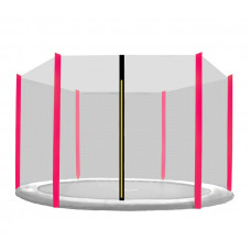 AGA védőháló 430 cm átmérőjű trambulinhoz 6 rudas - Fekete/Pink Előnézet