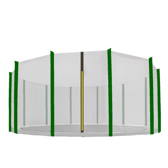 AGA védőháló 460 cm átmérőjű trambulinhoz 12 rudas - Fekete/Sötét zöld