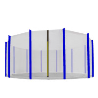 Külső védőháló 500 cm átmérőjű trambulinhoz 12 rudas AGA - Fekete/Kék