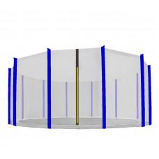 AGA védőháló 500 cm átmérőjű trambulinhoz 12 rudas - Fekete/Kék Előnézet