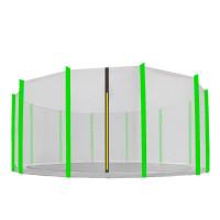 AGA védőháló 460 cm átmérőjű trambulinhoz 12 rudas - Fekete/Világos zöld