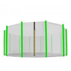 AGA védőháló 460 cm átmérőjű trambulinhoz 12 rudas - Fekete/Világos zöld Előnézet