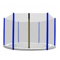 AGA védőháló 430 cm átmérőjű trambulinhoz 6 rudas - Fekete/Kék Előnézet