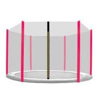 AGA védőháló 250 cm átmérőjű trambulinhoz 6 rudas - Rózsaszín