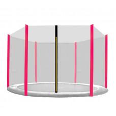 AGA védőháló 250 cm átmérőjű trambulinhoz 6 rudas - Rózsaszín Előnézet