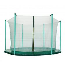 AGA belső védőháló 250 cm átmérőjű trambulinhoz 6 rudas - Sötét zöld Előnézet