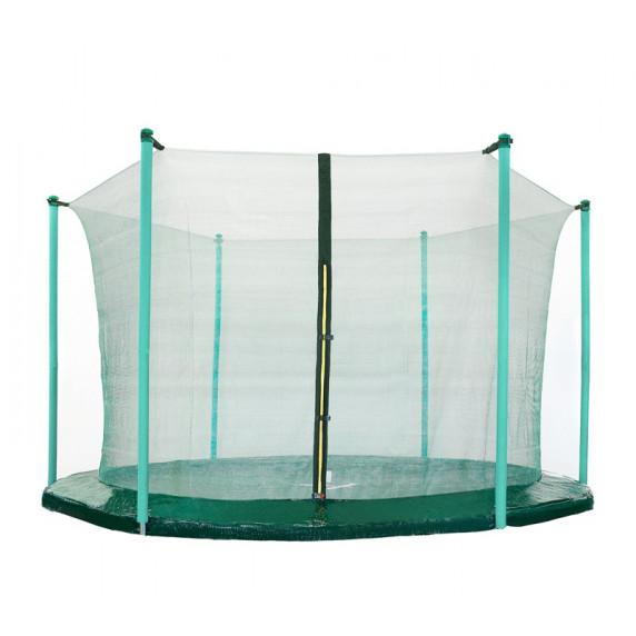 Belső védőháló 430 cm átmérőjű trambulinhoz 6 rudas AGA - sötét zöld