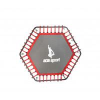 Ugrófelület 130 cm átmérőjű fitness trambulinhoz AGA - piros