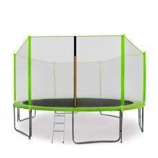 Aga SPORT PRO 430 cm trambulin  + létra és cipőtartó - Világos zöld