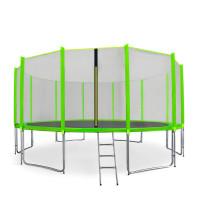 AGA SPORT PRO 460 cm trambulin + létra és cipőtartó - Világos zöld