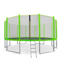 AGA SPORT PRO 500 cm trambulin + létra és cipőzsák - Világos zöld