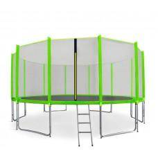 AGA SPORT PRO 500 cm trambulin + létra és cipőzsák - Világos zöld Előnézet