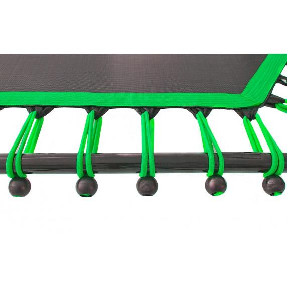 Aga FITNESS 130 cm Trambulin kapaszkodóval - Zöld