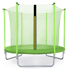 Aga SPORT FIT 250 cm trambulin belső védőhálóval - Világos zöld Előnézet