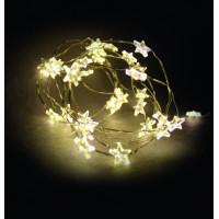Linder Exclusiv Elemes fényfüzér égősor 40 LED LK111W-S Csillagok - meleg fehér