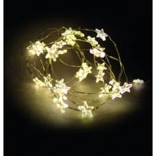 Linder Exclusiv Elemes fényfüzér égősor 40 LED LK111W-S Csillagok - meleg fehér Előnézet
