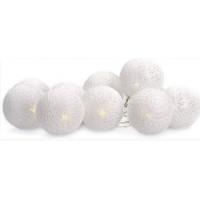 Linder Exclusiv karácsonyi LED világítás 10 fehér gömb LK022-RK - hideg fehér