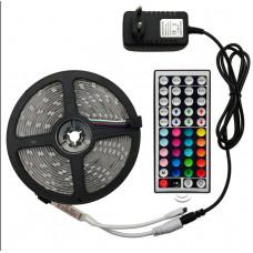 Aga LED fényfüzér RGB 5 m + táp, távirányító Előnézet