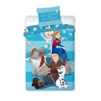 Ágyneműhuzat Jégvarázs Frozen - Anna, Elza, Olaf és Kristoff  140 x 200 cm