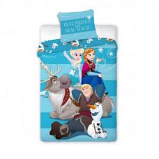 Ágyneműhuzat Jégvarázs Frozen - Anna, Elza, Olaf és Kristoff  140 x 200 cm Előnézet