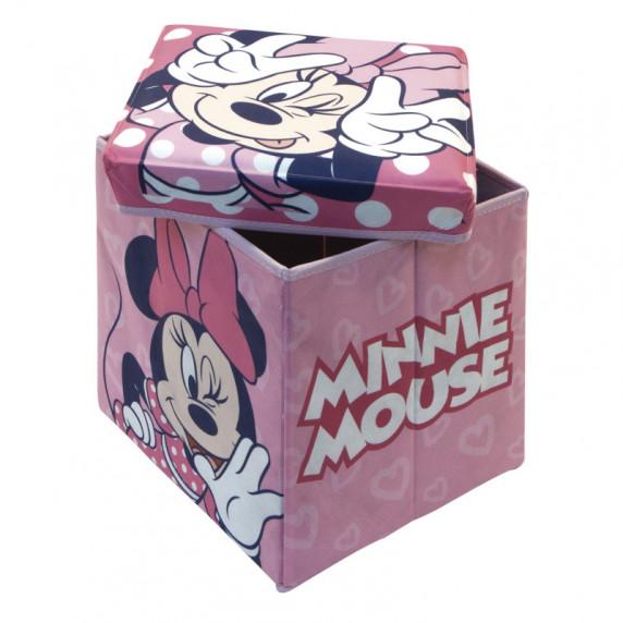 Játéktároló doboz és puff Minnie egér