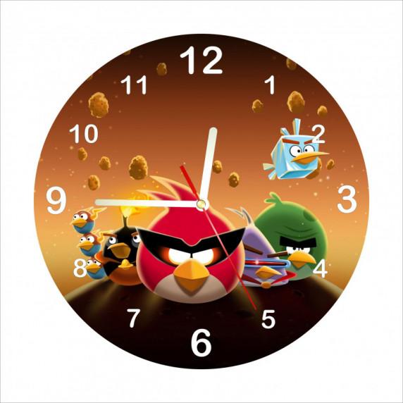 Analóg gyerek falióra Angry Birds