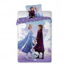 Ágyneműhuzat Jégvarázs - Frozen Elza, Anna és Olaf 140x200 cm Előnézet