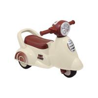 Lábbal hajtós kismotor hanggal Baby Mix Scooter - fehér