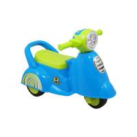 Lábbal hajtós kismotor hanggal Baby Mix Scooter - kék