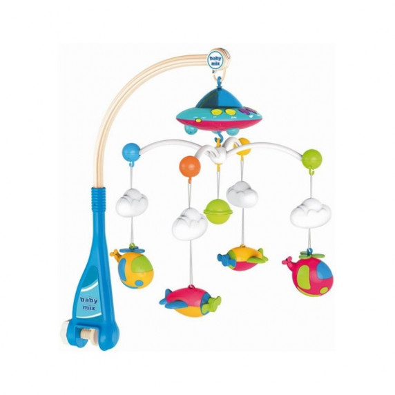 BABY MIX Repülős zenélő körforgó kivetítővel - kék