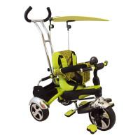 Baby Mix tricikli tolókarral - zöld