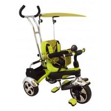 Baby Mix tricikli tolókarral - zöld Előnézet