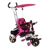 Baby Mix tricikli tolókarral - rózsaszín