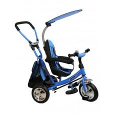 Baby Mix Safari tricikli tolókarral - kék Előnézet