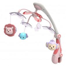 BABY MIX zenélő körforgó kivetítővel Szafari - rózsaszín Előnézet