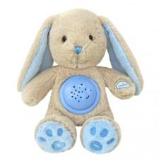 Baby Mix plüss nyuszi projektorral - kék Előnézet