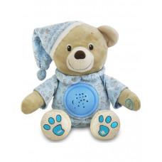 Baby Mix plüss sapkás maci projektorral - kék Előnézet