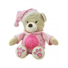Baby Mix plüss sapkás maci projektorral - rózsaszín Előnézet