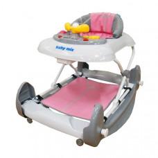 Baby Mix bébikomp lábtámasszal - rózsaszín Előnézet