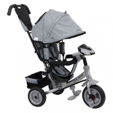 Baby Mix Lux Trike tricikli tolókarral - szürke Előnézet