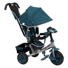 Baby Mix Lux Trike tricikli tolókarral - zöld Előnézet