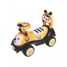 Baby Mix Happy Bee lábbal hajtós gyerekjármű - sárga Előnézet
