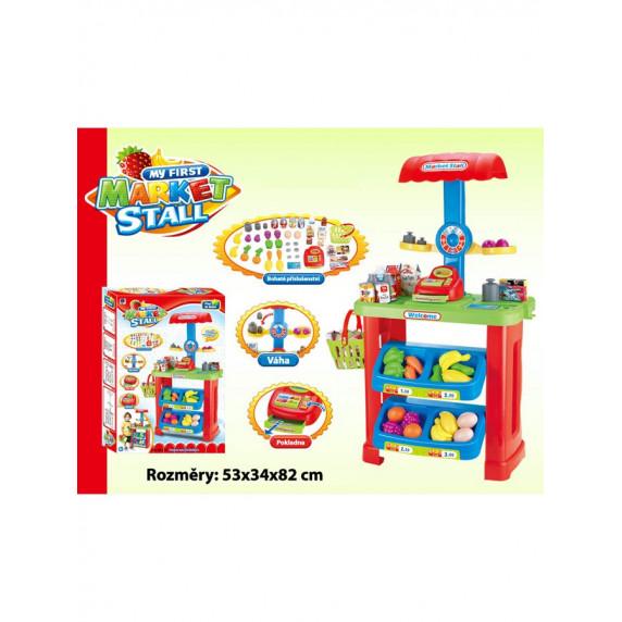 BAYO játék piaci stand + 44 kiegészítő