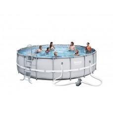 BESTWAY 56427 Power Steel 549x132 cm medence vízforgatóval  Előnézet