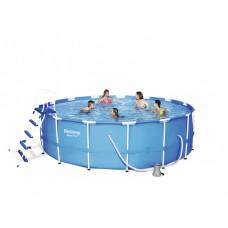 BESTWAY 56438 Steel Pro 457x122 cm medence vízforgatóval  Előnézet