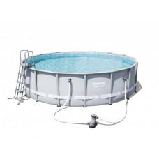 BESTWAY 56451 Power Steel 488x122 cm medence vízforgatóval  Előnézet