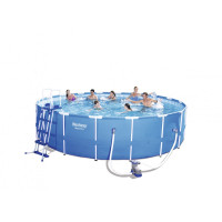 BESTWAY 56462 Steel Pro 549x122 cm medence vízforgatóval