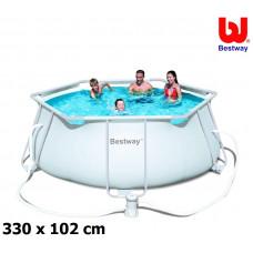 BESTWAY 56245 Steel Pro Frame 330x102 cm medence vízforgatóval Előnézet