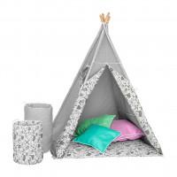 Gyerek sátor Akuku Teepee  - szürke