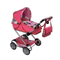 Játék babakocsi NEW BABY Veronika- rózsaszín